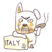 手繪創作:Dog-Italy
