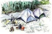 手繪創作:930724~25桶后露營、內洞飆車行