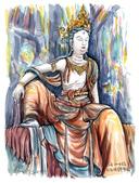 手繪創作:20190917-雙林寺觀自在觀音-s.jpg