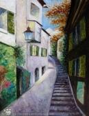 手繪創作:油畫-Zurich-991005-2s