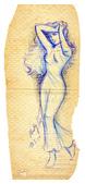 手繪創作:19990510-Paris Lady-s