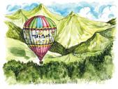 手繪創作:1020723-2013台灣國際熱氣球嘉年華-s