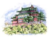 手繪創作:水彩畫-植物園荷花