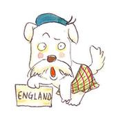 手繪創作:Dog-England