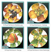 彩繪瓷盤:The Royal Mail Collection Autumn Royal Doulton Plates.jpg