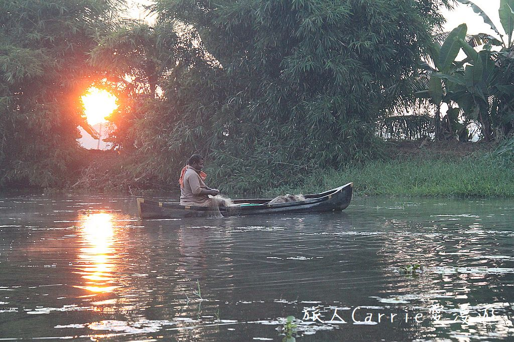 【南印喀拉拉】阿勒皮Alleppey~迴水區Backwater清晨盪小舟送明月迎朝陽:IMG_9226.jpg