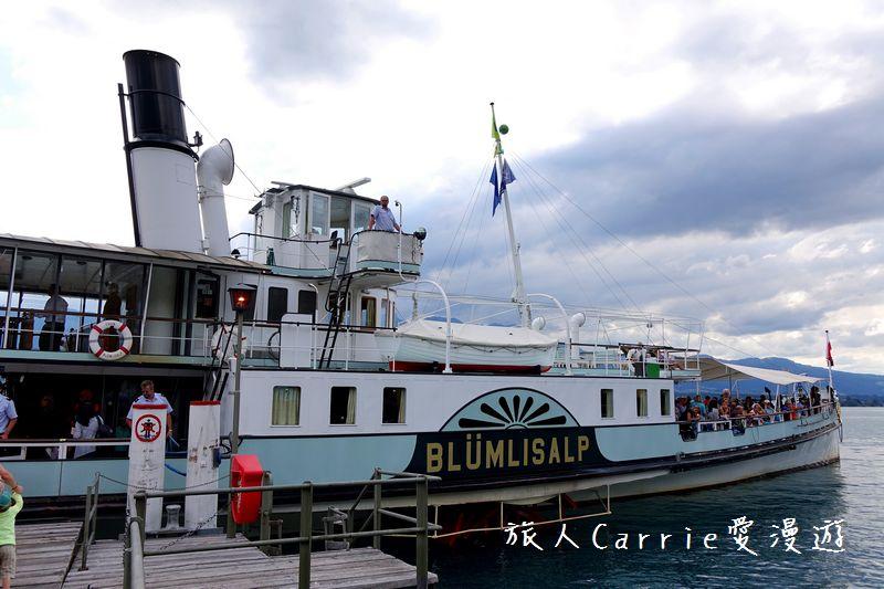 施皮茨(Spiez)搭乘「懷舊輪槳蒸氣船」暢遊圖恩湖(Thunersee)‧奧伯霍芬城堡(Oberh:DSC09827.jpg