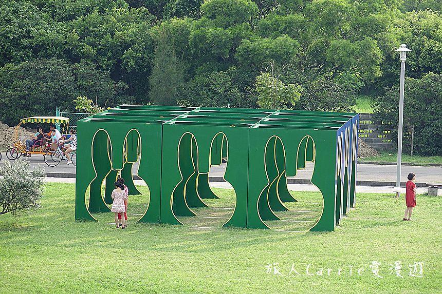 【新北旅遊】八里文化公園露營區-泡泡窩‧荷蘭國寶級米飛兔(Miffy) 地景藝術: