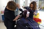 【台中美髮】York salon~染髮技術一級棒 完美遮蓋白髮 髮梢紫紅輕盈就是要來一中街益民商圈漂: