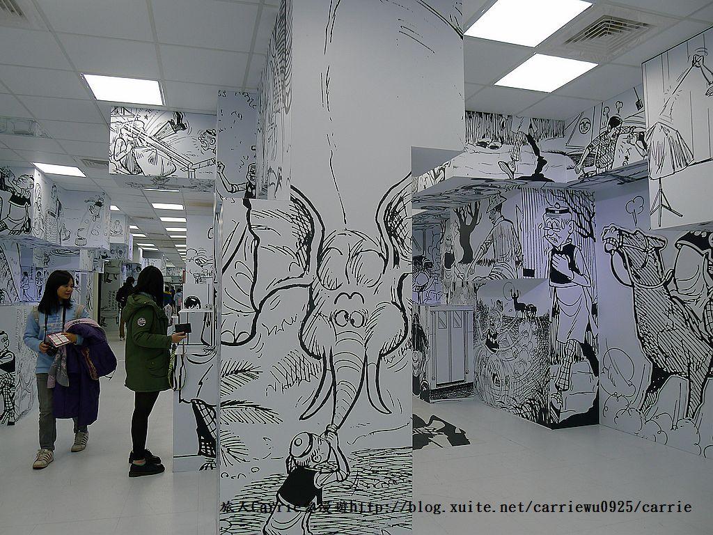 【展覽】老夫子50時空叮叮車~到台北松山文創園區搭乘叮叮車穿越時光隧道進入漫畫場景:26P1350513.jpg