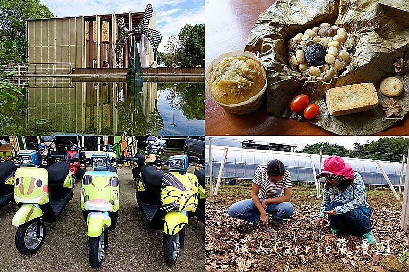 【南投旅遊】埔里桃米低碳小旅行~親子騎電動自行車野餐趣‧紙教堂Paper Dome‧自然農業體驗‧蝴: