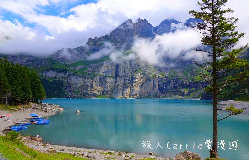 瑞士厄希嫩湖/ 歐能辛湖(Oeschinensee)~在世界自然遺產搭纜車玩滑梯健行趣【瑞士旅遊】:02DSC07918.jpg