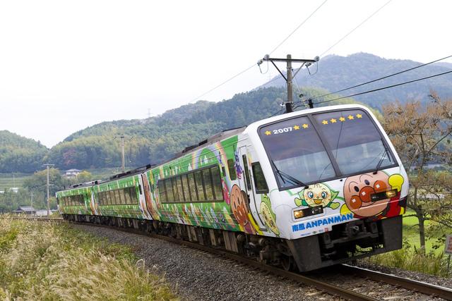 土讃線アンパンマン列車グリーン_1.jpg - JR四國。麵包超人列車