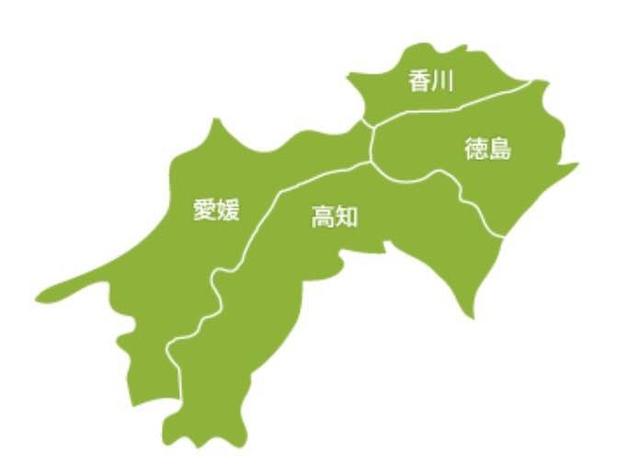 四國地圖.jpg - 帶泰國小姐遊四國。德島-香川。四國正中千年物語列車