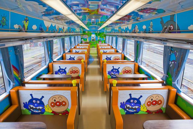 瀬戸大橋アンパンマントロッコ_車内_1.jpg - JR四國PASS
