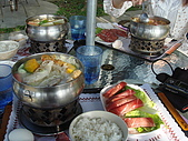 華山雲頂咖啡(2008_0120):頗貴的小火鍋,一個人都280,什麼都沒附