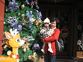 980113兩天南投之旅-1y4m:歐莉葉荷餐廳外面擺設ㄉ聖誕樹