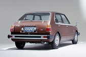 歷代 CIVIC 喜美:1977 CIVIC I 一代.車尾
