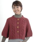 HAMANAKA作品:N-18桂花+麻花模樣圓領5分袖短版開襟上衣.png