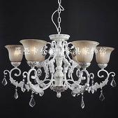 仿古美式鄉村鍛鐵各類燈飾:浪漫宮廷美式仿古鄉村鍛鐵白色水晶燈