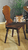 英式美式歐式西班牙復古‧鄉村‧彩繪‧原木‧家具:全原木餐椅.書桌椅
