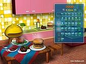 柑仔桌布:柑仔美食王桌布1024X768(月曆版)