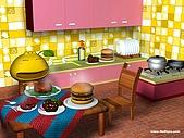 柑仔桌布:柑仔美食王桌布1024X768(一般版)