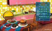 柑仔桌布:柑仔美食王桌布1280X768(月曆版)