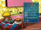 柑仔桌布:柑仔美食王桌布800X600(月曆版)