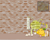 柑仔桌布:2008 7月 桌布 1280x1024 含日曆
