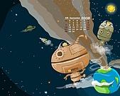 柑仔桌布:2008 9月 桌布 1280x1024 含日曆