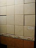 家:弟弟選的浴室磚.JPG