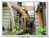 龍潭 戶外南方松遮雨棚 格網圍籬 木造斜屋頂 自然原木色:DSC00167.jpg