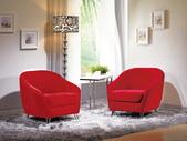 沙發組椅:742-2 夏綠蒂休閒椅(紅絨布).jpg