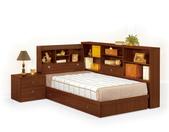 臥室房間組14:672-3 羅爾3.5尺胡桃書架型單人床.jpg