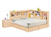 臥室房間組14:671-1 妮可拉5尺書架型雙人床.jpg