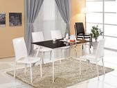 餐廳-餐桌:963-1 卡莫達4.5尺玻璃餐桌+989-12.jpg