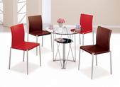 餐廳-時尚餐桌:980-2 辛恩2.7尺圓玻璃餐桌+989-13+989-14.jpg