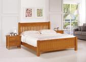 臥室房間組14:667-4 克勞德6尺實木柚木色雙人床.jpg