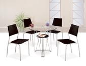 餐廳-時尚餐桌:980-1 丹尼3尺圓玻璃餐桌+989-15.jpg