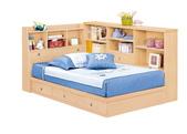 臥室房間組14:671 妮可拉3.5尺書架型單人床組合範例.jpg