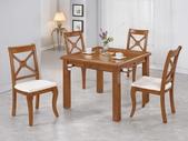 餐廳-時尚餐桌:982-1 羅傑斯柚木餐桌兼麻將桌+985-7.jpg