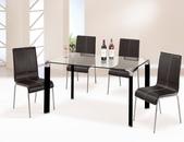 餐廳-餐桌:964-3 肯尼士4.5尺玻璃餐桌+989-7.jpg