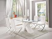 高雅餐桌:936-1 海達5尺玻璃餐桌+988-6.jpg