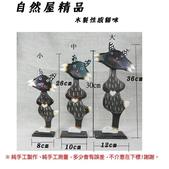 原木綜合製品:木製彩繪性感貓咪