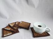 自然風桌巾、杯墊系列:自然椰枝杯墊