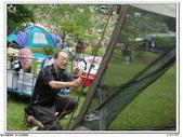 花錢買小孩的笑容之裡冷溪露營:第一次搭前陣子在好市多買的蚊帳