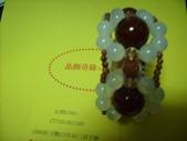 晶飾奇緣三排手鍊產品目錄:(20M)紅玉髓(白花朵)三排手鍊手鍊照片 026.jpg