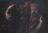 FSQ106ED 天文攝影:NGC6960-6992附近 天鵝座超新星爆炸殘骸 面紗星雲