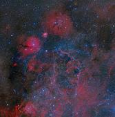 FSQ106ED 天文攝影:船帆座超新星殘骸附近 (mosaic)